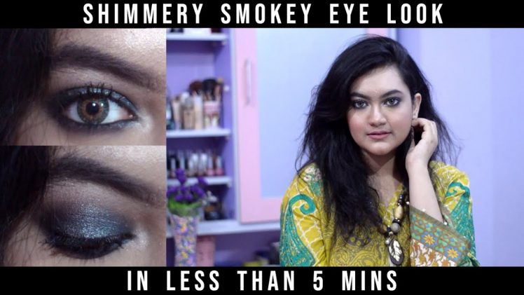Shimmery Black Smokey Eye in less than 5 mins | Beauty & Glam by Areej | Ep: 29 | In Urdu/Hindi